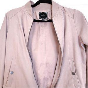 Blush Pink Bomber Jacket